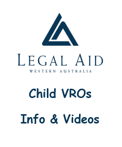 Link to Legal Aid website for Child VROs Info and Videos
